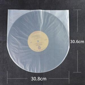 100pcs NEW Clear Plastic 12'' LP LD Inner Sleeve Cover Vinyl Record 30.8X30.6cm