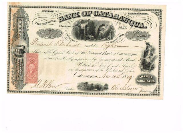 Bank of Catasauqua, 1868-9