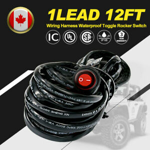 LED-light-Bar-Pod-Wiring-Harness-12V-40A-Relay-Fuse-Switch-Kit-Driving-Lamps-US