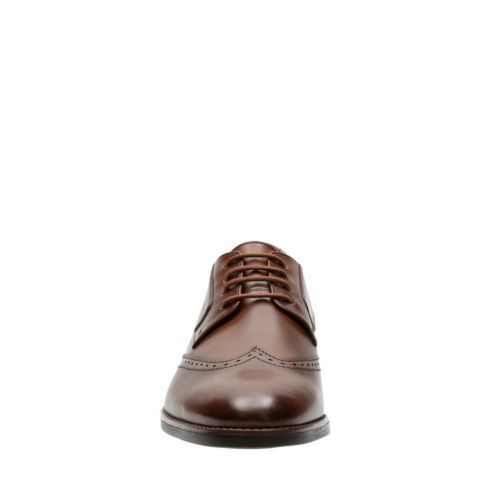 Bostonian Men/'s Yorkton Wing Oxford Tan Leather Dress Shoes 26125056