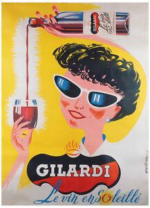 Image Is Loading VINTAGE FRENCH WINE ART GICLEE PRINT Gilardi By