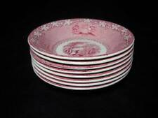 8 Vintage Royal Staffordshire Jenny Lind 1795 Pink Transferware Fruit Bowls
