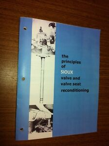 Sioux Principles of Valve & Valve Seat Grinding Manual