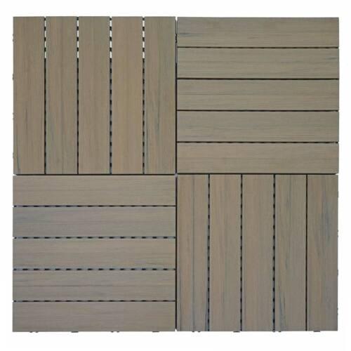 Demandeur Sol Carreau mcw-e20 marron en finition bois 3d-Structure 4x par 50x50cm = 1qm