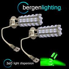2X H3 VERDE 60 LED ANTERIORE LAMPADINE PER FARI FENDINEBBIA SUPPLEMENTARI