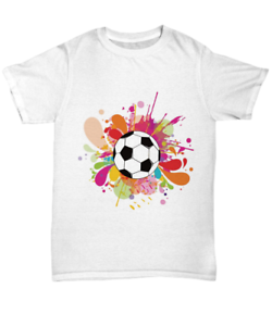 6da10ceb2 Details about Soccer Futball Tee Shirt Color Splash Player Coach T-Shirt -  Unisex Tee