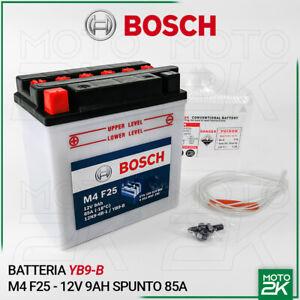 BATTERIA-BOSCH-M4-F25-YB9-B-12V-9AH-SPUNTO-85A-MOTO-SCOOTER-ACIDO-INCLUSO