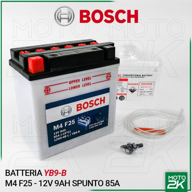 BATTERIA BOSCH YB9-B 12V 9AH PIAGGIO 125 LIBERTY 1998 - 2012
