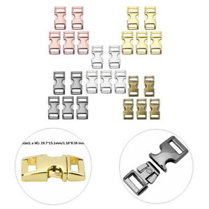 YiZYiF 5Pcs Metal Quick Side Release Buckles Heavy Duty Adjustable Buckles for Paracord Bracelets Dog Cat Collar Webbing Garment Accessories Gold One Size