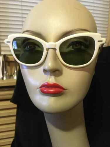 Vintage 50s Claire McCardell Sunglasses Green Lens