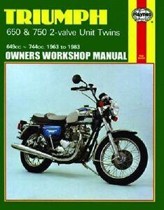 haynes service manual triumph tr6 r tiger 1970 1973 t120 bonneville rh ebay com Triumph Spitfire Triumph TR3