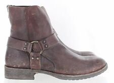 Frye Men's Dean Harness 87185 Ankle Boot Antiquated Dark Brown Size 9 M