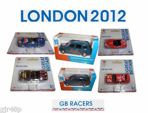 London 2012 Games CORGI GB Racers Team GB Die Cast Collectible Souvenir Cars