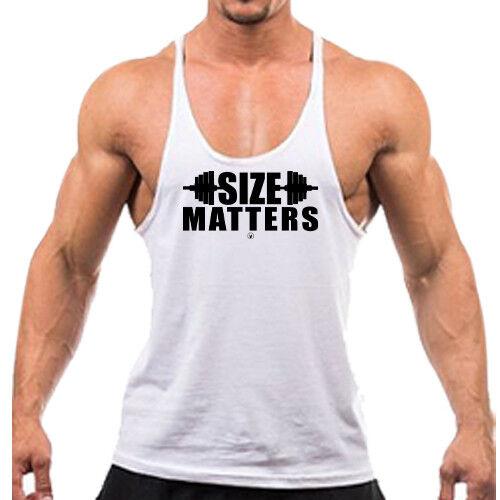 Singlets SIZE MATTERS Gym Rabbit TankTop Bodybuilding Stringer Weightlifting 749
