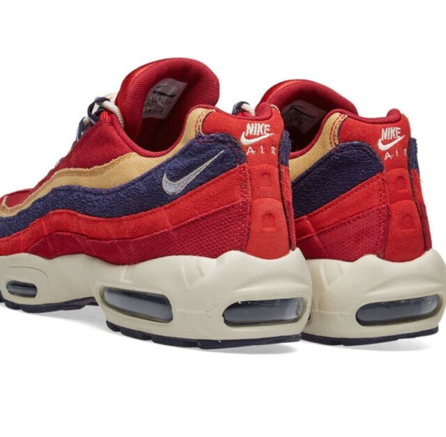 Nike Air Max 95 Premium Mens 538416 603 Red Purple Wheat Running Shoes Size 10.5