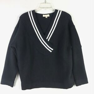 Promesa-Womens-Vneck-Black-Boxy-Relaxed-Sweater-Medium-M