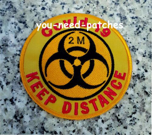 Quarantine Covid Keep Distance 19 Biohazard Socialen Distanzieren Patch Aufnäher