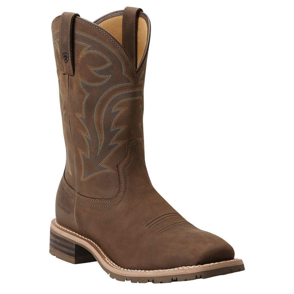 MEN-039-S - ARIAT-Híbrido-Rancher-Western - bota-Square-Toe-Resistente Al Agua - 10014067