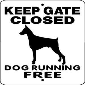 Details about DOBERMAN PINSCHER DOG SIGN,NO TRESPASSING,9