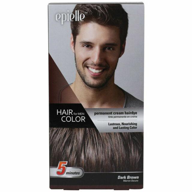 Dark Brown Color for Men Epielle Permanent Hair Dye in 5 Min LOOK