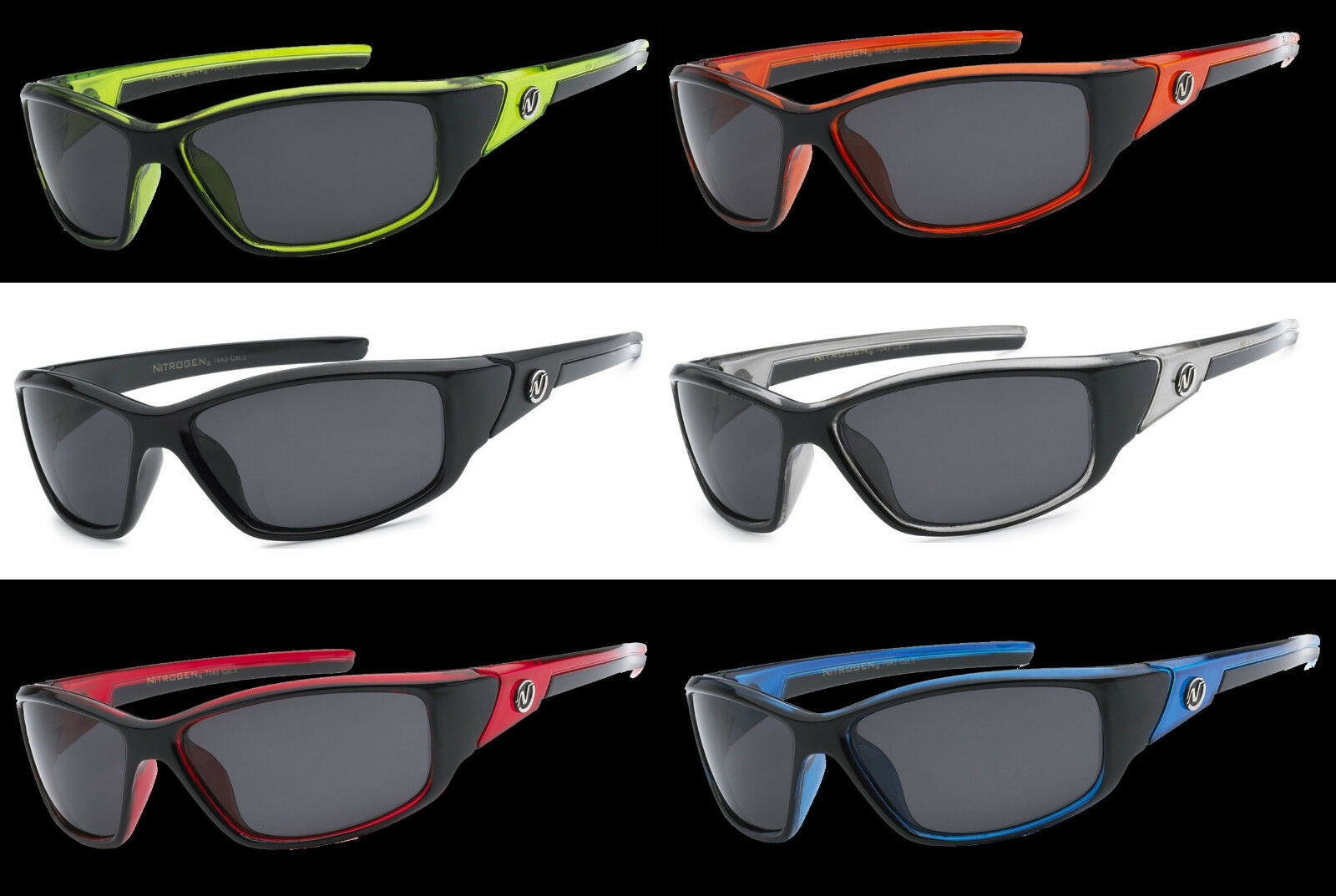 ffce0441c2 Details about Polarized Nitrogen Sunglasses Wrap Sport Running Fishing  Golfing Driving Glasses