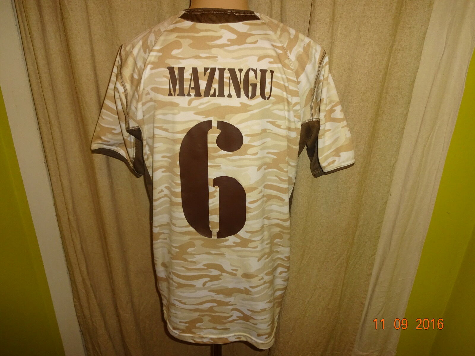 FC Original St.Pauli Original FC Matchworn Trikot 2005/05 + Nr.6 Mazingu + Signiert Gr.L 98e386