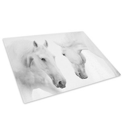 White Horse Grey Black  Glass Chopping Board Kitchen Worktop Saver Protector