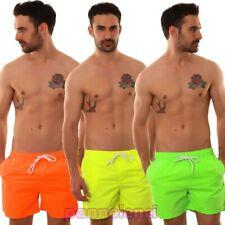 Bermuda uomo costume FLUO pantaloncini mare boxer swimsuit nuovi N3033