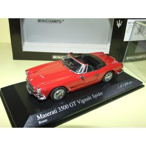 MASERATI 3500 GT VIGNALE SPIDER 1961 Rouge MINICHAMPS 1:43