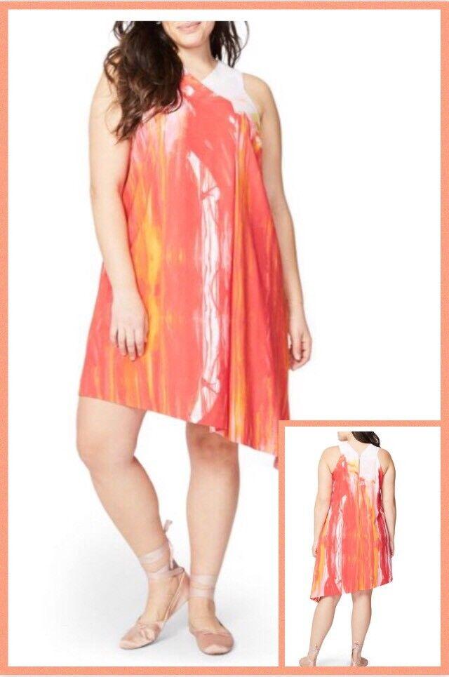 Rachel Rachel Roy  damen Größe 2X Plus Asymmetrical Shift Dress  262