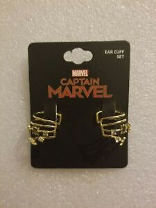 New-on-card-Marvel-Comics-Captain-Marvel-Ear-Cuffs-costume-Jewelry-Cosplay