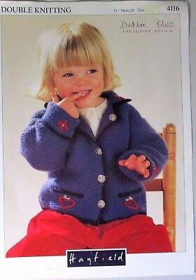 "#077 Debbie Bliss /""Leaf Stitch Sweater/"" 4-Ply Jumper Knitting Pattern Leaflet"