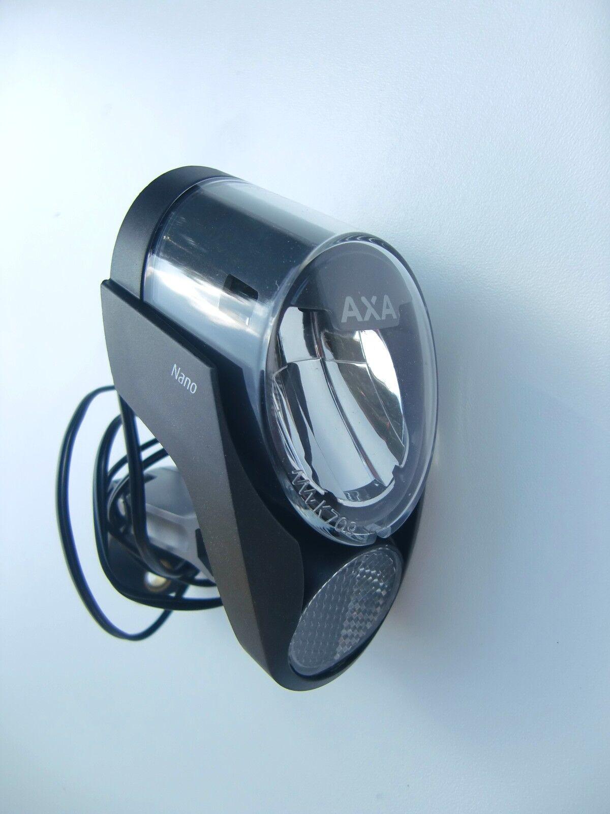 AXA Nano LED Faro delanteros con Luces de posición para dinamo cubo 40lux