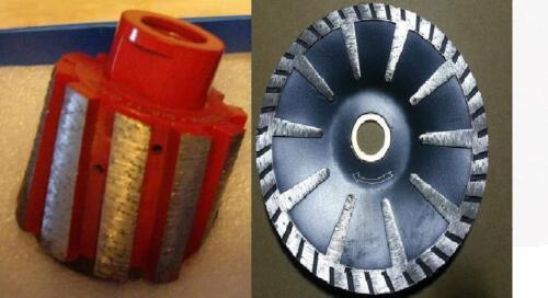 "2/"" Zero Tolerance grinding Drum 5/"" Convex curved Blade stone concrete granite"