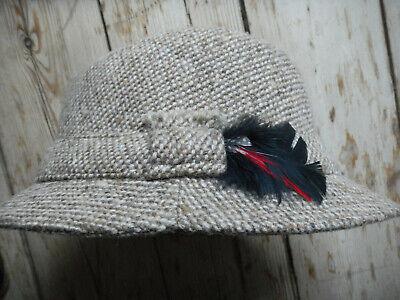 Anglerhut Fischerhut Hut Damen 100% Wolle Irland Ireland Blarney Gr. M Country
