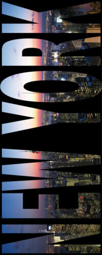 Sticker trompe l/'oeil New York 100x260cm réf 423