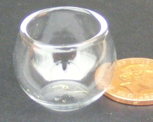 Échelle 1:12 vide en verre véritable Poisson Bol tumdee maison de poupées Aquarium Accessoire G40