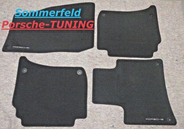 Porsche Cayenne 958 MK1 Velour Fußmatten floor mats Schwarz 7P5.863.011.F DK4