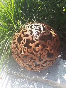 Analytisch Barock Kugel 24 Cm Metall Garten Terrasse Dekoration Edelrost Schale Beet 28107 Dekoration