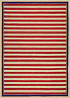 Couristan Covington Nautical Stripes/red Navy 3ft6in X 5ft6in Rug