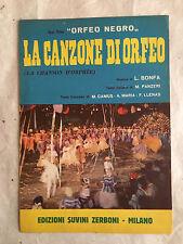 SPARTITO MUSICALE LA CANZONE DI ORFEO LA CHANSON D'ORPHEE FILM ORFEO NEGRO