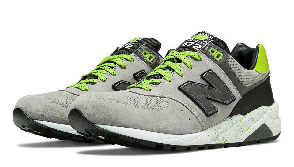 New Balance 572 Elite Halloween Running Uomo Shoes Trainers Grey Green MRT572GG