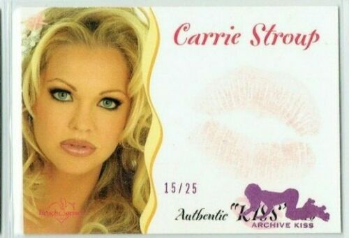 BENCHWARMER 2003 CARRIE STROUP KISS CARD