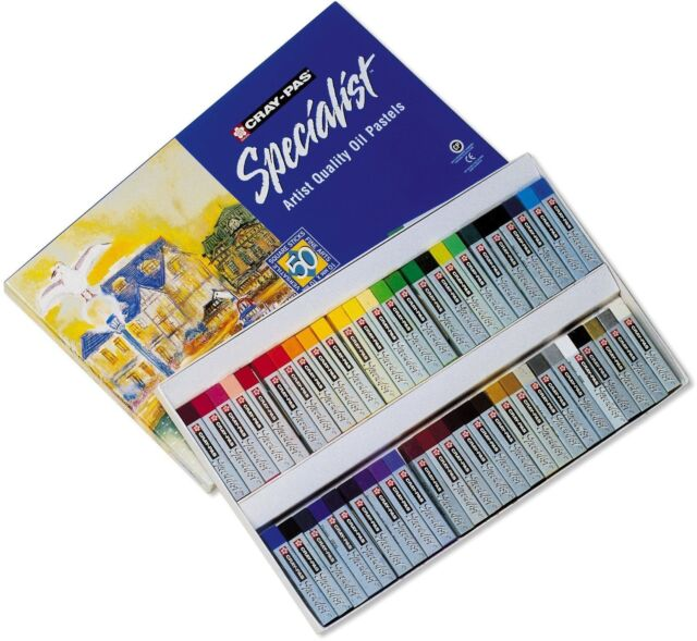 Artists Oil Pastels 50set Cray-Pas Sakura drawing painting Premium Art Materials