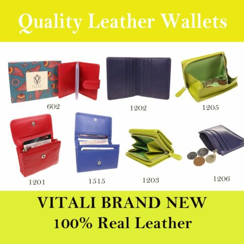 LADIES REAL LEATHER PURSE CREDIT CARD HOLDER STUNNING WALLETS