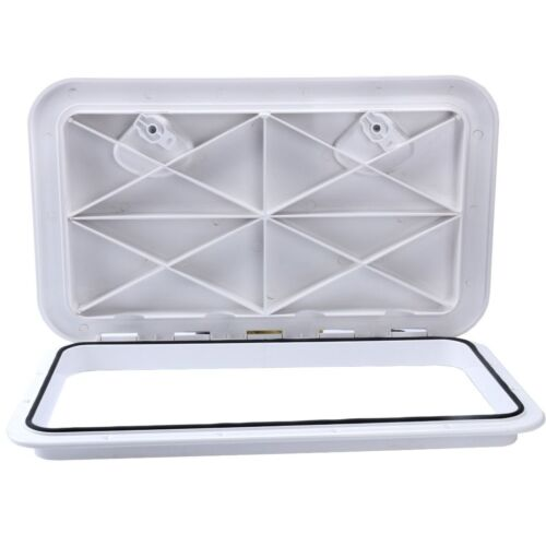 "HOT SALE Amarine-made White Boat Marine ACCESS HATCH /& LID 24/"" x 9-5//8/"" US EAN"
