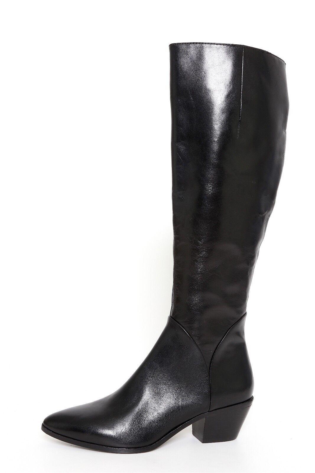 Bota de mujer de cuero negro de la la la firma VC tamaño 6.5M US 36.5 EUR 8137   440  toma