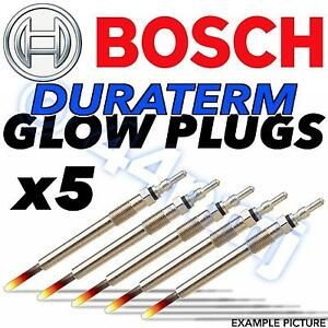 5x Bosch Glow Plugs for VOLVO S60 2.4 CHOICE2//2 D D5