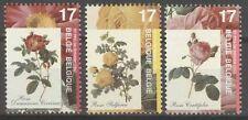 Belgique**ROSES Congrès-3 timbres-FLEURS-NSC-Flowers-MNH-1997-Rosen-Rozen-Fleurs