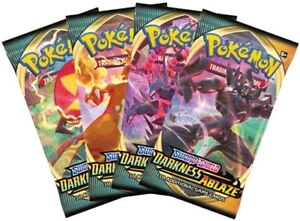 Pokemon-TCG-Sword-amp-Shield-Darkness-Ablaze-4-Booster-Packs-All-Types-B